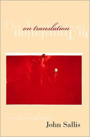 Cover of: On Translation: