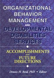Cover of: Organizational Behavior Management and Developmental Disabilities Services