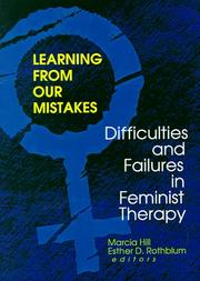 Cover of: Learning from Our Mistakes |
