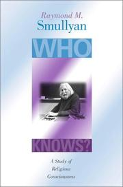 Cover of: Who Knows?: A Study of Religious Consciousness