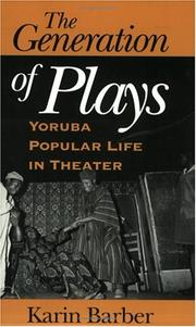 Cover of: The Generation of Plays