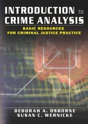 Cover of: Introduction to Crime Analysis | Deborah Osborne