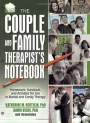 Cover of: The Couple And Family Therapists