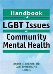 Cover of: Handbook Of Lgbt Issues In Community Mental Health |