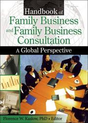Cover of: Handbook of Family Business And Family Business Consultation