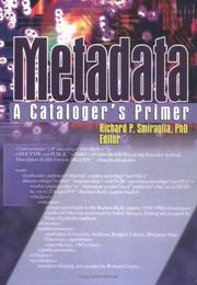 Cover of: Metadata |