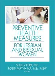 Cover of: Preventive Health Measures for Lesbian and Bisexual Women |