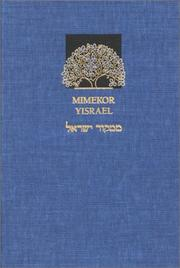 Cover of: Mimekor Yisrael |