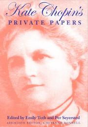 Cover of: Kate Chopin's private papers