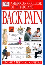 Cover of: America College of Physicians home medical guide to back pain |