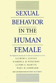 Cover of: Sexual behavior in the human female |