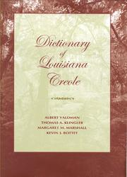 Cover of: Dictionary of Louisiana Creole