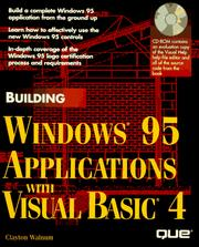 Cover of: Building Windows 95 applications with Visual Basic 4