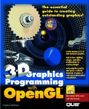 Cover of: 3-D graphics programming with OpenGL