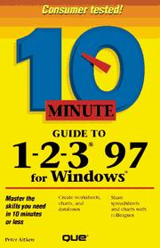 Cover of: 10 minute guide to 1-2-3 97 for Windows