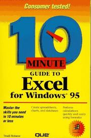 Cover of: 10 minute guide to Excel for Windows 95