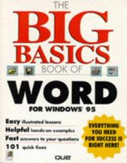 Cover of: The big basics book of Word for Windows 95 | Sandra E. Eddy