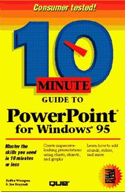 Cover of: 10 minute guide to PowerPoint for Windows 95