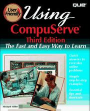 Cover of: Using CompuServe | Miller, Michael