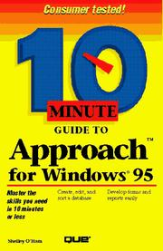 Cover of: 10 minute guide to Approach for Windows 95