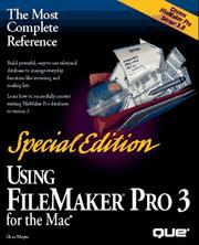 Cover of: Using FileMaker Pro 3 for the Mac
