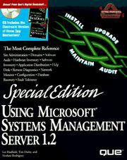 Cover of: Using Microsoft systems management server