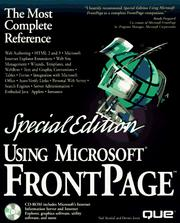 Cover of: Using Microsoft FrontPage