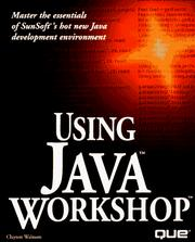 Cover of: Using Java Workshop