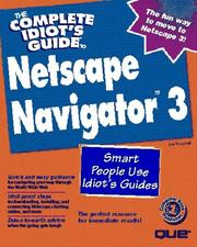 Cover of: Complete Idiot's Guide To Netscape Navigator
