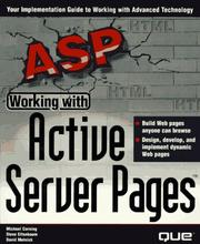 Cover of: Working with active server pages