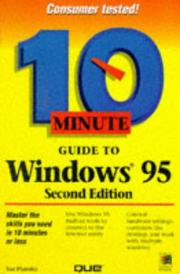 Cover of: 10 minute guide to Windows 95 | Sue Plumley