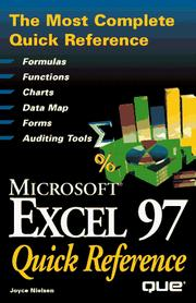 Cover of: Microsoft Excel 97 quick reference