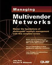 Cover of: Managing multivendor networks