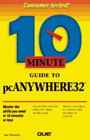 Cover of: 10 minute guide to pcAnywhere