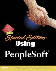 Cover of: Special Edition Using PeopleSoft (SE Using) | Paul Greenberg