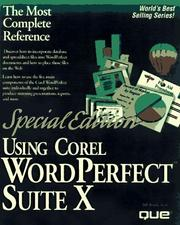 Cover of: Using Corel WordPerfect Suite 8 | Bill Bruck