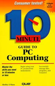 Cover of: 10 minute guide to PC computing