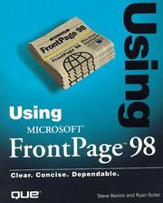 Cover of: Using Microsoft FrontPage 98 | Steve Banick