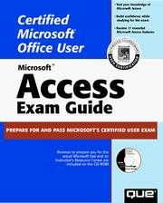 Cover of: Microsoft Access 97 exam guide