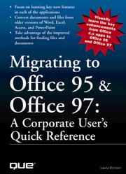 Cover of: Migrating to Office 95 & Office 97 | Laura Monsen