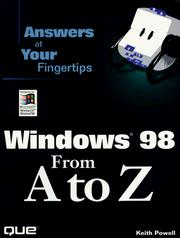 Cover of: Windows 98 from A to Z | Keith A. Powell