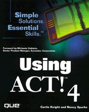 Cover of: Using ACT! 4