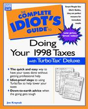 Cover of: The complete idiot's guide to doing your taxes with TurboTax deluxe