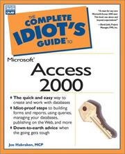 Cover of: The complete idiot's guide to Microsoft Access 2000