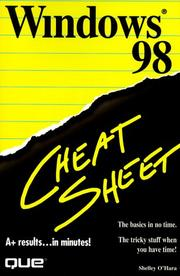 Cover of: Windows 98 cheat sheet