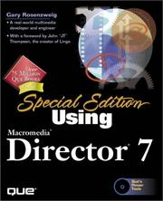 Cover of: Using Director 7 (Special Edition) | Gary Rosenzweig