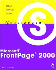 Cover of: Microsoft® FrontPage® 2000