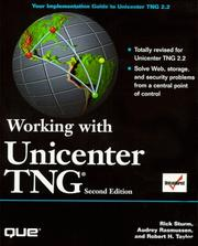 Cover of: Working with Unicenter TNG
