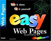 Cover of: Easy Web pages