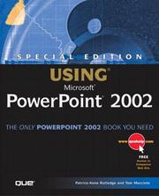 Cover of: Special Edition Using Microsoft Powerpoint 2002